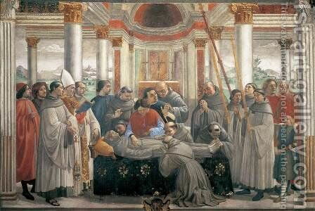 Obsequies of St. Francis by Domenico Ghirlandaio - Reproduction Oil Painting