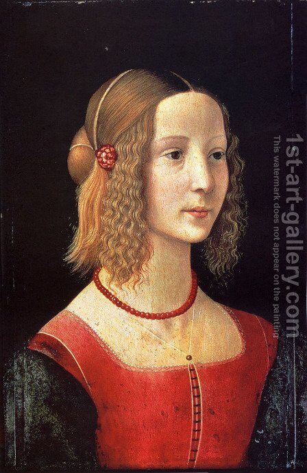 Portait Of A Girl by Domenico Ghirlandaio - Reproduction Oil Painting