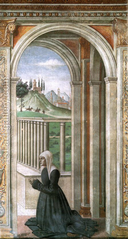 Portrait Of The Donor Francesca Pitti Tornabuoni by Domenico Ghirlandaio - Reproduction Oil Painting