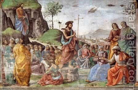 Preaching Of St John The Baptist by Domenico Ghirlandaio - Reproduction Oil Painting