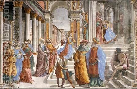 Presentation Of The Virgin At The Temple by Domenico Ghirlandaio - Reproduction Oil Painting