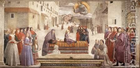 Resurrection of the Boy 1482-85 by Domenico Ghirlandaio - Reproduction Oil Painting