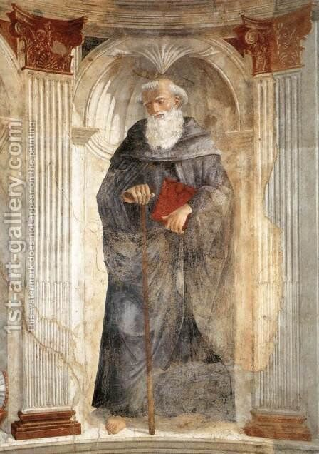 St Antony c. 1471 by Domenico Ghirlandaio - Reproduction Oil Painting