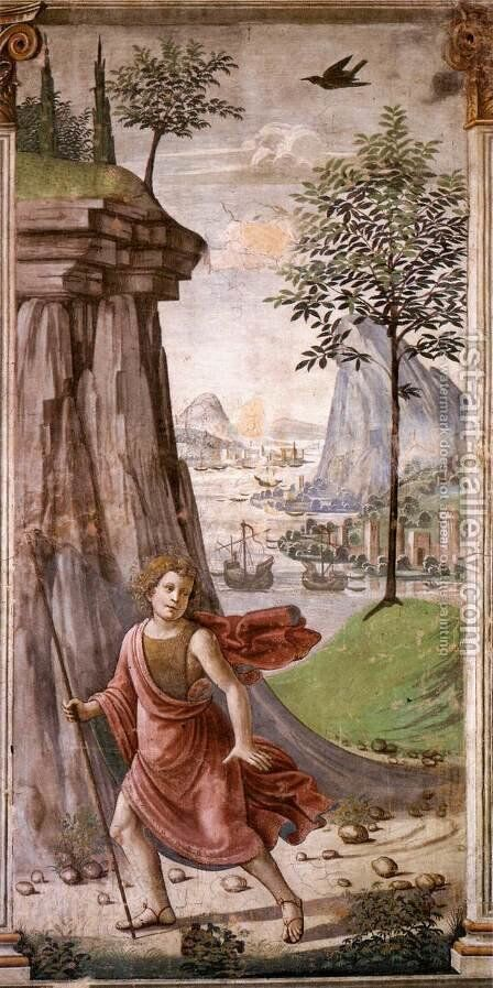 St John The Baptist In The Desert by Domenico Ghirlandaio - Reproduction Oil Painting