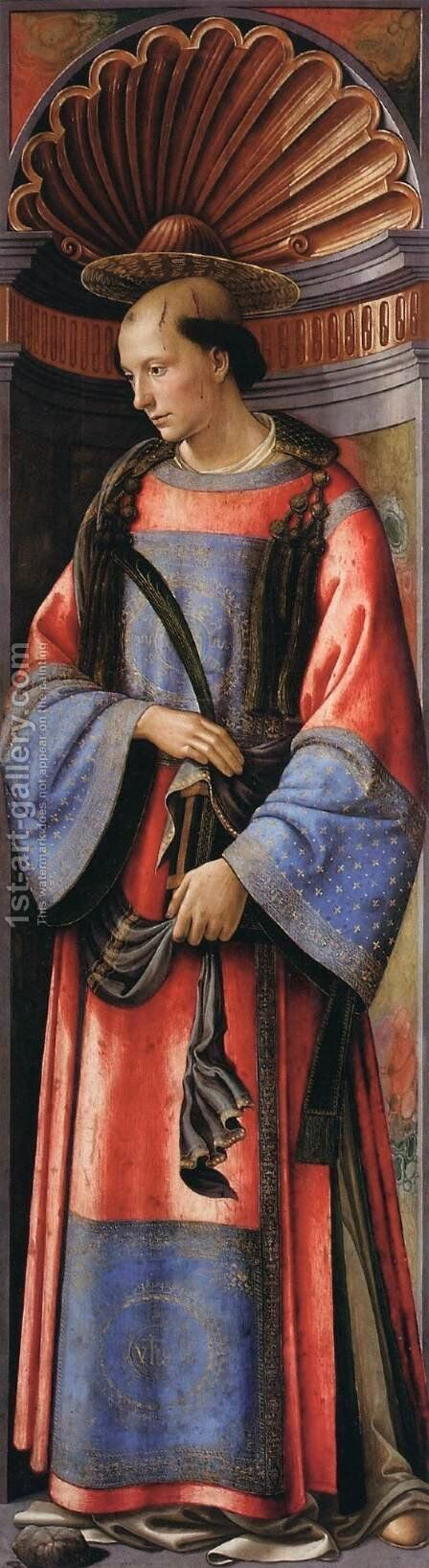 St Stephen 1490-94 by Domenico Ghirlandaio - Reproduction Oil Painting