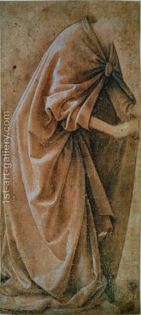 Study Of Garments 1491 by Domenico Ghirlandaio - Reproduction Oil Painting