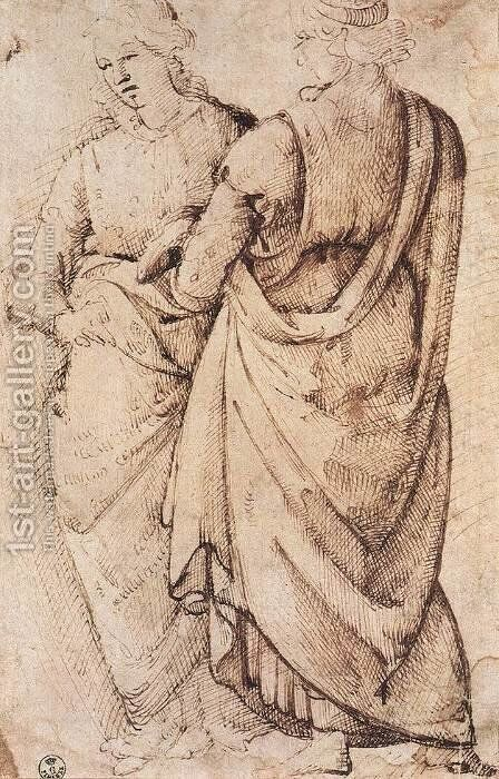 Study Of Two Women 1486 by Domenico Ghirlandaio - Reproduction Oil Painting