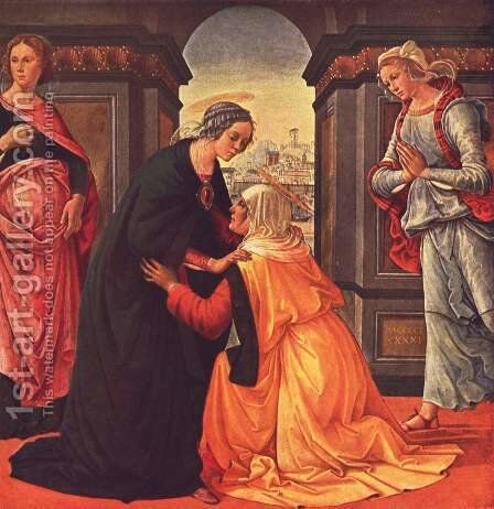 Visitation c. 1491 by Domenico Ghirlandaio - Reproduction Oil Painting