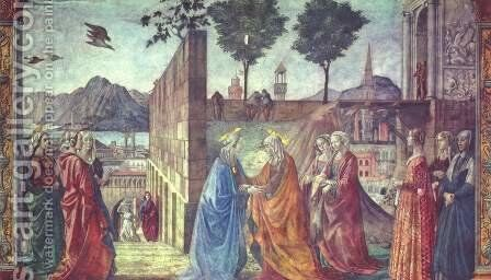 Visitation2 by Domenico Ghirlandaio - Reproduction Oil Painting