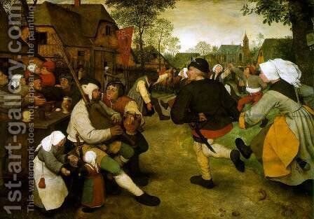 The Peasant Dance 1568 by Pieter the Elder Bruegel - Reproduction Oil Painting