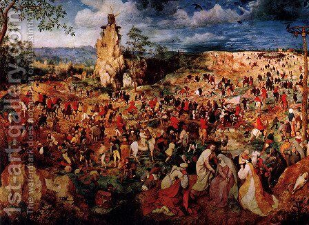 The Procession To Calvary by Pieter the Elder Bruegel - Reproduction Oil Painting