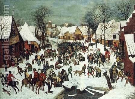 The Slaughter of the Innocents 1565-66 by Pieter the Elder Bruegel - Reproduction Oil Painting