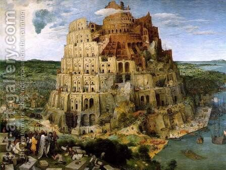 The Tower of Babel 1563 by Pieter the Elder Bruegel - Reproduction Oil Painting