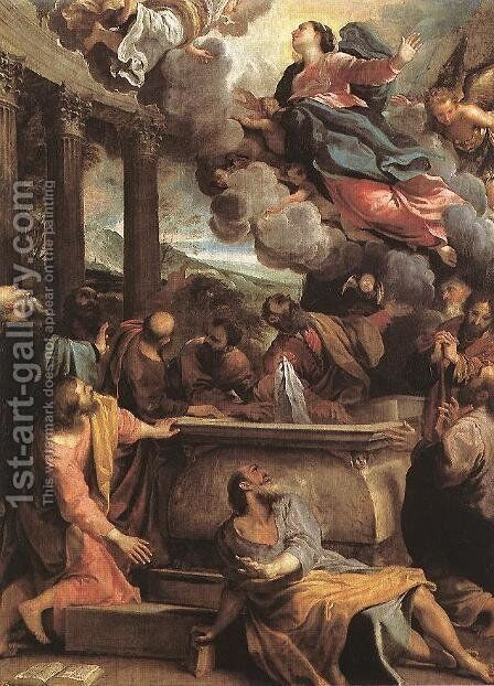 Assumption of the Virgin c. 1590 by Annibale Carracci - Reproduction Oil Painting