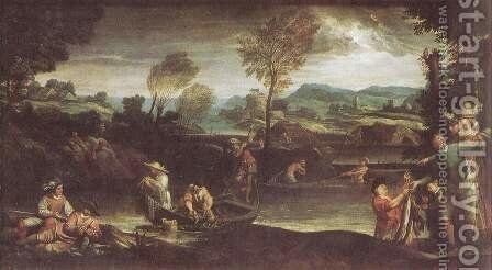 Fishing before 1595 by Annibale Carracci - Reproduction Oil Painting