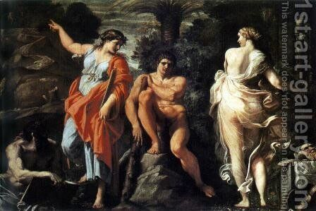 The Choice of Heracles c. 1596 by Annibale Carracci - Reproduction Oil Painting