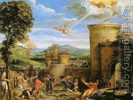 The Martyrdom of St Stephen 1603-04 by Annibale Carracci - Reproduction Oil Painting