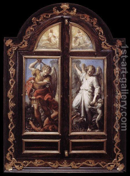 Triptych 1604-05 by Annibale Carracci - Reproduction Oil Painting
