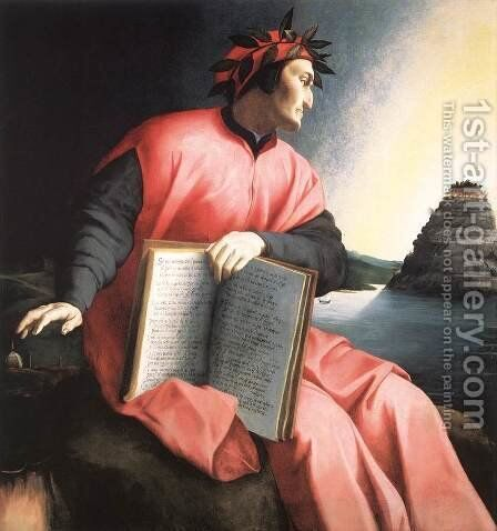 Allegorical Portrait of Dante c. 1530 by Agnolo Bronzino - Reproduction Oil Painting