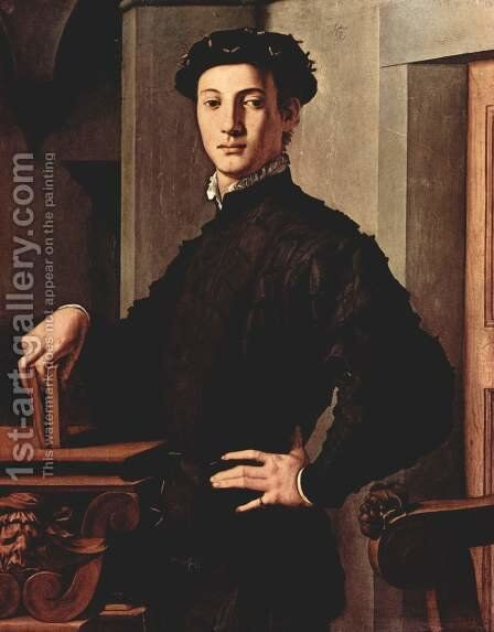 Portrait of a Young Man, c. 1540 by Agnolo Bronzino - Reproduction Oil Painting