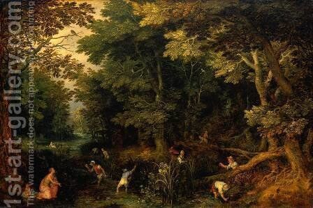 Latona And The Lycian Peasants by Jan The Elder Brueghel - Reproduction Oil Painting