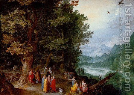 St John Preaching in the Wilderness  c. 1600 by Jan The Elder Brueghel - Reproduction Oil Painting