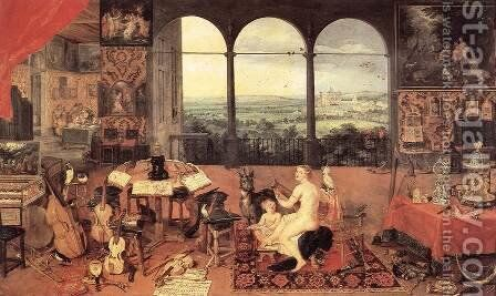 The Sense of Hearing 1618 by Jan The Elder Brueghel - Reproduction Oil Painting