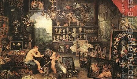 The Sense of Sight 1617 by Jan The Elder Brueghel - Reproduction Oil Painting