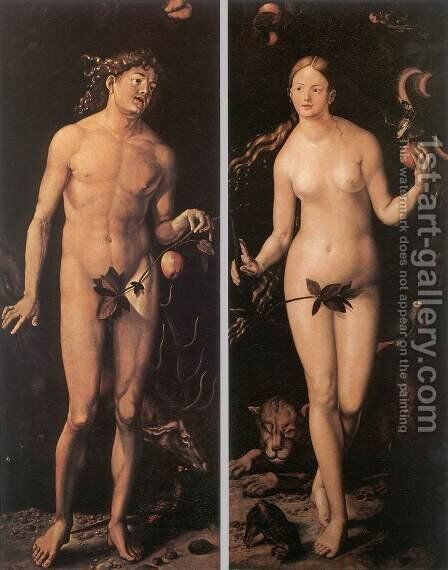 Adam And Eve by Hans Baldung  Grien - Reproduction Oil Painting