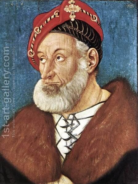 Count Christoph I Of Baden 1515 by Hans Baldung  Grien - Reproduction Oil Painting