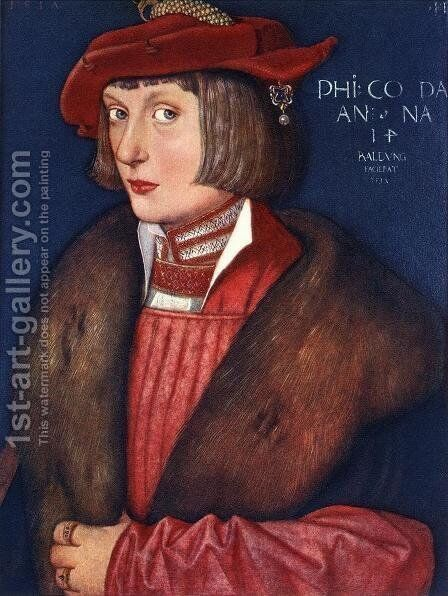 Count Philip 1517 by Hans Baldung  Grien - Reproduction Oil Painting