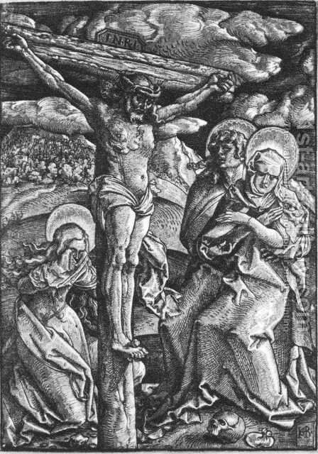 Crucifixion 1511 by Hans Baldung  Grien - Reproduction Oil Painting