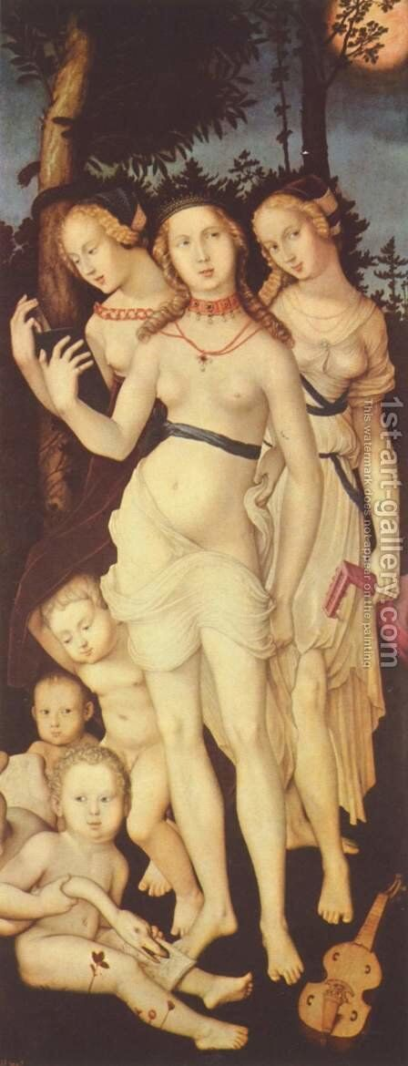 Harmony Of The Three Graces by Hans Baldung  Grien - Reproduction Oil Painting