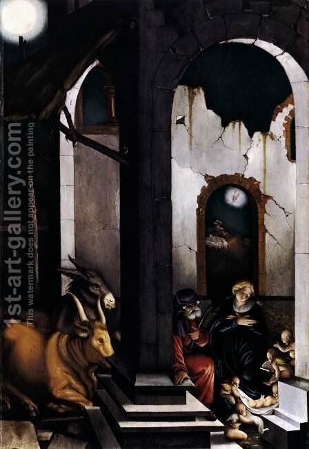 Nativity 1520 by Hans Baldung  Grien - Reproduction Oil Painting
