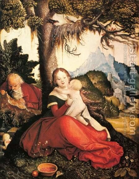 Rest On The Flight To Egypt 1514 by Hans Baldung  Grien - Reproduction Oil Painting