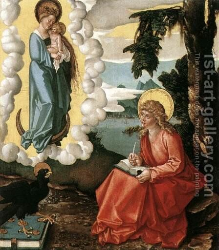 St John At Patmos 1515 by Hans Baldung  Grien - Reproduction Oil Painting