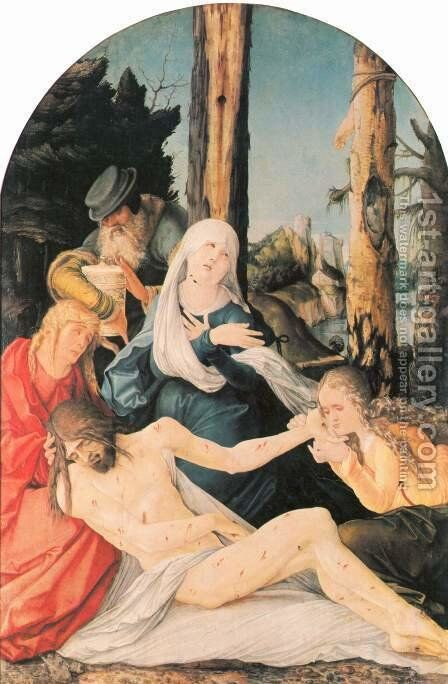 The Lamentation Of Christ 1518 by Hans Baldung  Grien - Reproduction Oil Painting