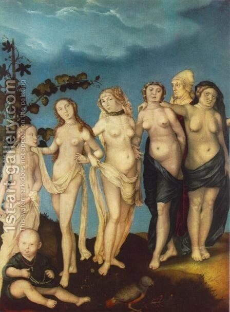 The Seven Ages Of Woman by Hans Baldung  Grien - Reproduction Oil Painting