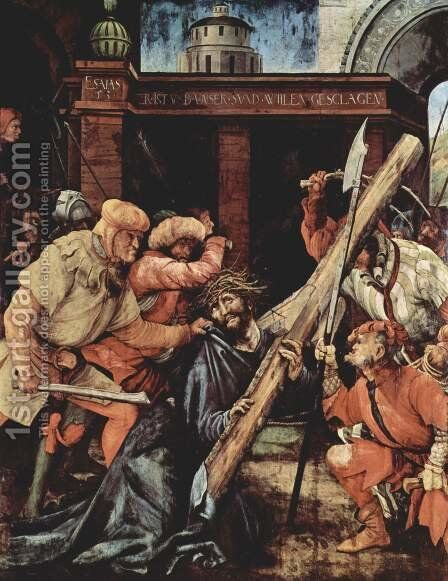 Carrying the Cross 1523-24 by Matthias Grunewald (Mathis Gothardt) - Reproduction Oil Painting