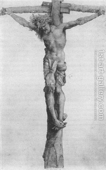 Crucifixion 1501-02 by Matthias Grunewald (Mathis Gothardt) - Reproduction Oil Painting