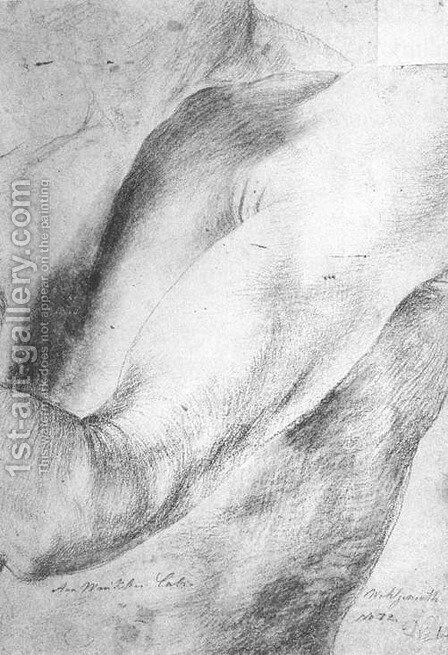 Forearm Study 1512-14 by Matthias Grunewald (Mathis Gothardt) - Reproduction Oil Painting