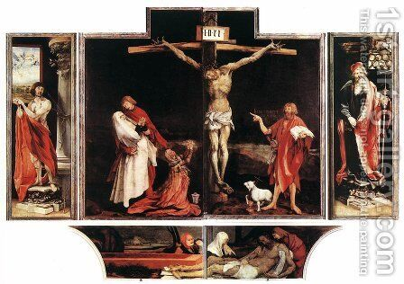 Isenheim Altarpiece (first View) 1515 by Matthias Grunewald (Mathis Gothardt) - Reproduction Oil Painting