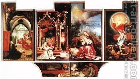 Isenheim Altarpiece (second View) 1515 by Matthias Grunewald (Mathis Gothardt) - Reproduction Oil Painting