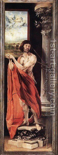 St Sebastian c. 1515 by Matthias Grunewald (Mathis Gothardt) - Reproduction Oil Painting