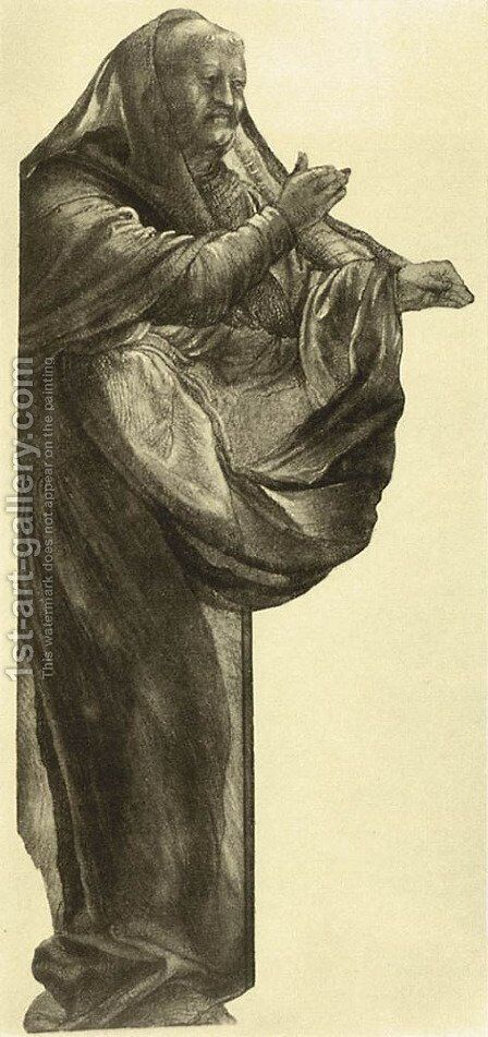 Study of an Apostle (2) c. 1511 by Matthias Grunewald (Mathis Gothardt) - Reproduction Oil Painting