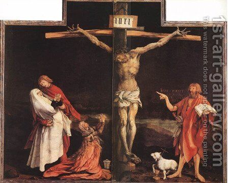 The Crucifixion c. 1515 by Matthias Grunewald (Mathis Gothardt) - Reproduction Oil Painting