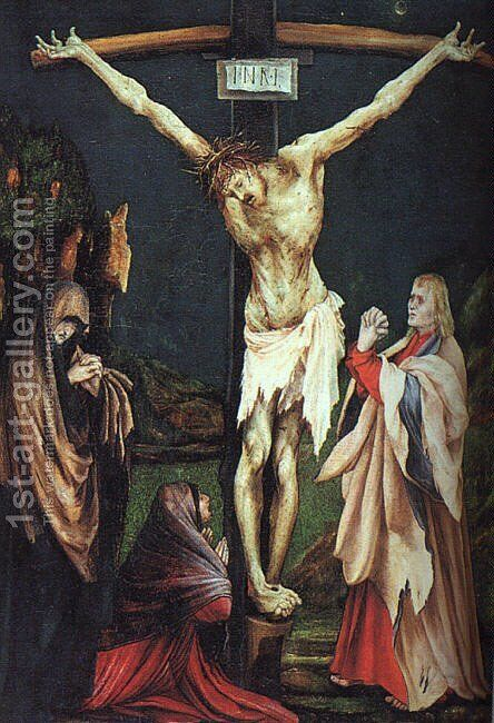 The Small Crucifixion 1511-20 by Matthias Grunewald (Mathis Gothardt) - Reproduction Oil Painting
