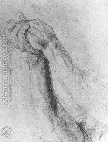 Upper Arm Study 1512-14 by Matthias Grunewald (Mathis Gothardt) - Reproduction Oil Painting