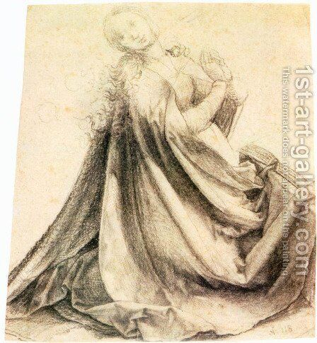Virgin Of The Annunciation2 by Matthias Grunewald (Mathis Gothardt) - Reproduction Oil Painting