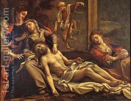 Deposition From The Cross 1525 by Correggio (Antonio Allegri) - Reproduction Oil Painting